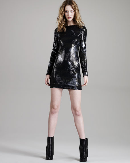 Sequined Camouflage Dress