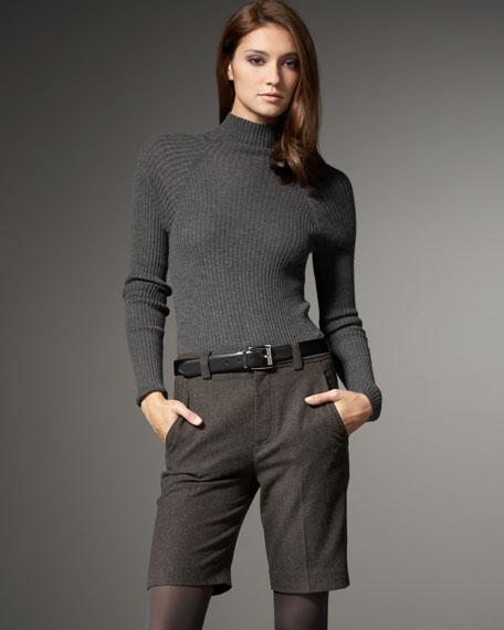 Tweed Bermuda Shorts