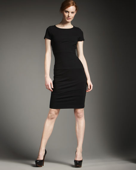 Seamed Ponte Dress