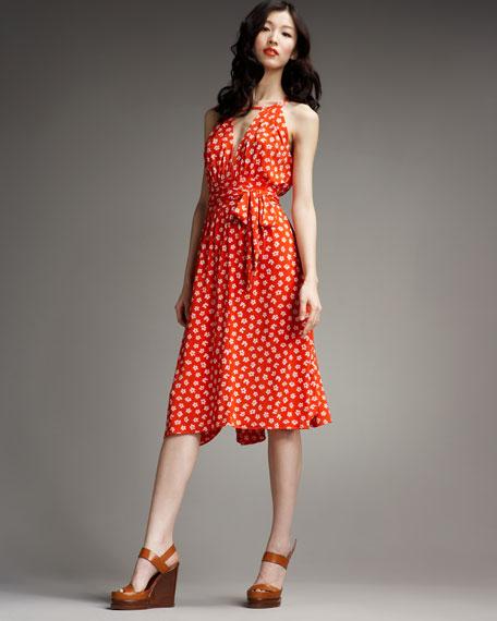 Florette-Print Jersey Dress