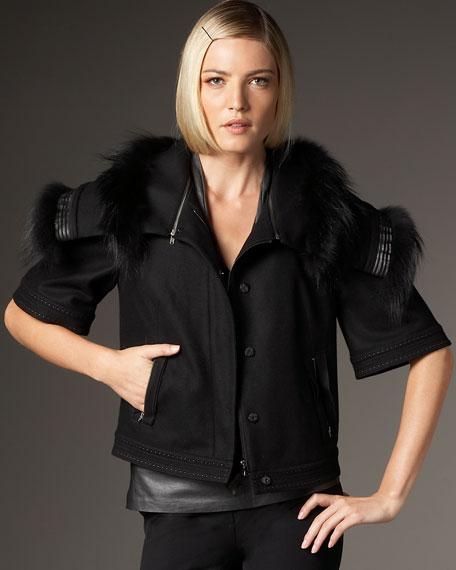 Janine Fox-Trim Jacket