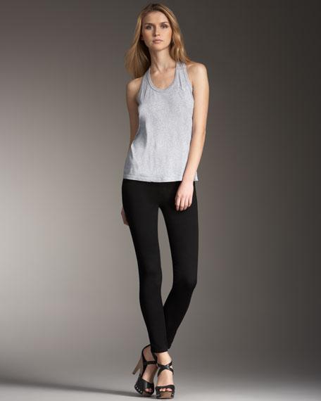 Soho Pull-On Skinny Jeans, Black