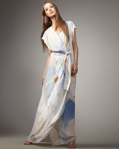 Ethyl Long Wrap Maxi Dress