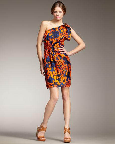 Neves One-Shoulder Silk Dress