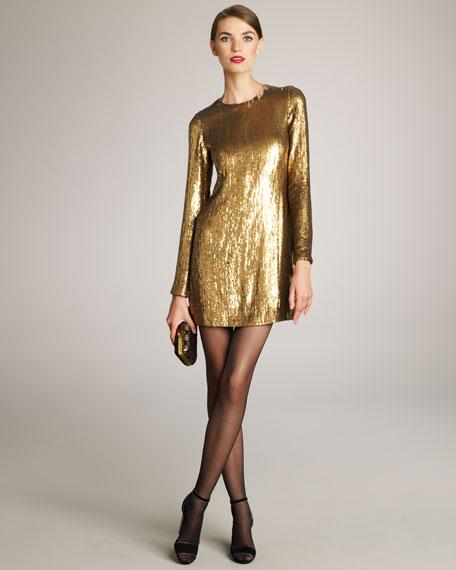 ae1c952cd04 Diane von Furstenberg Pauletta Sequined Dress