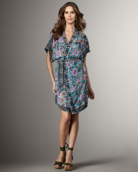 Printed Silk Coverup