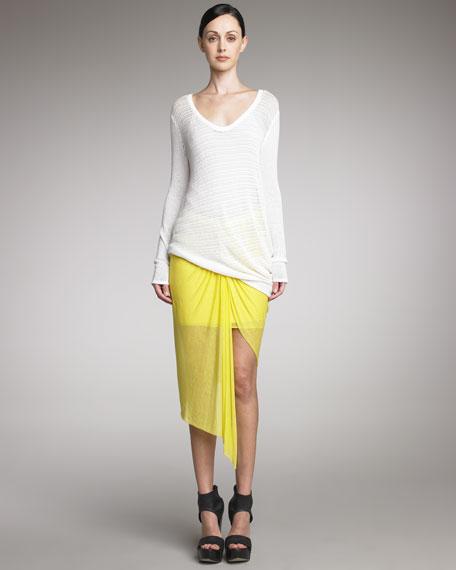 Twisted Sheer Skirt