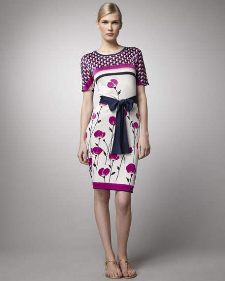 Melba Poppy-Print Dress