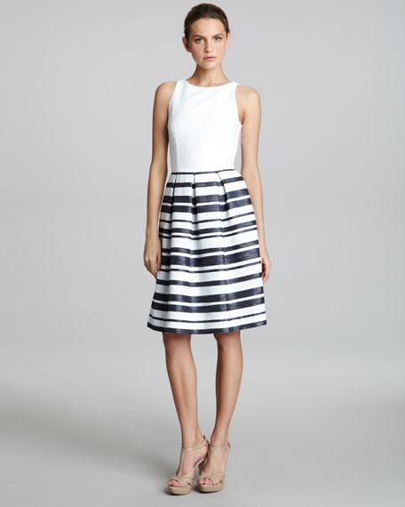 Combo-Stripe Skirt Dress