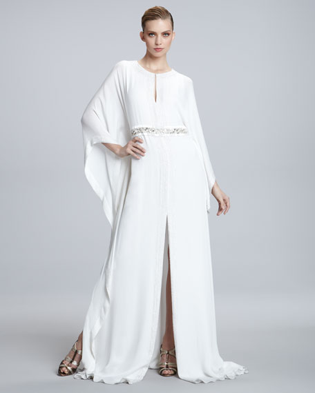 Embroidered-Waist Caftan