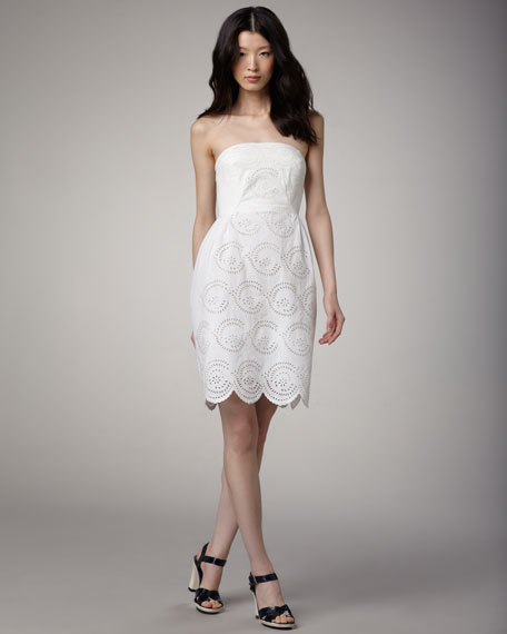MARC by Marc Jacobs Palmetto Eyelet Dress, Marshmallow