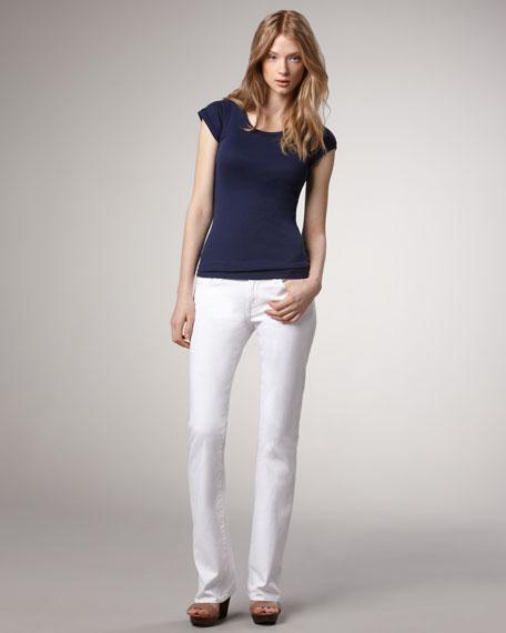 Original Boot-Cut Clean White Jeans
