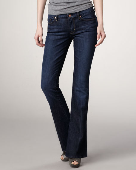 Kaylie Midnight NY Dark Slim Boot-Cut Jeans