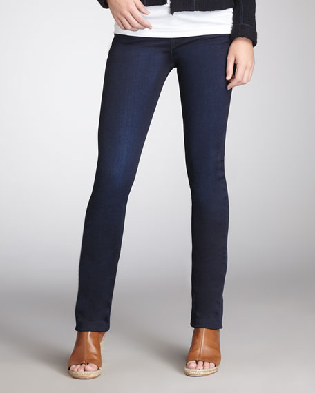 Cropped Skinny Jeans, Midnight Oil