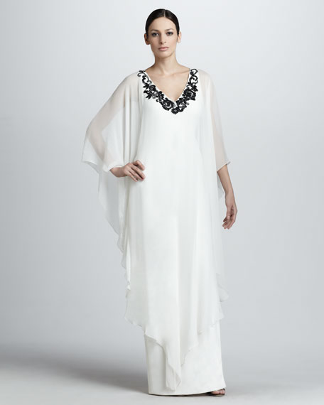 Sleeveless Embroidered Caftan
