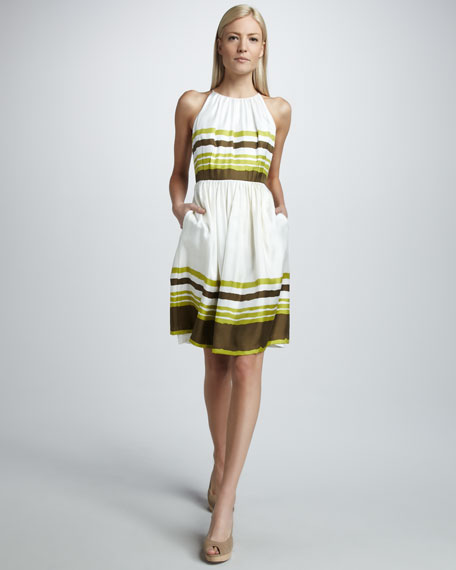 Striped Silk Dress