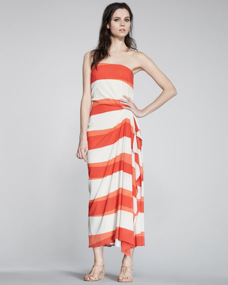 Evie Striped Maxi Dress
