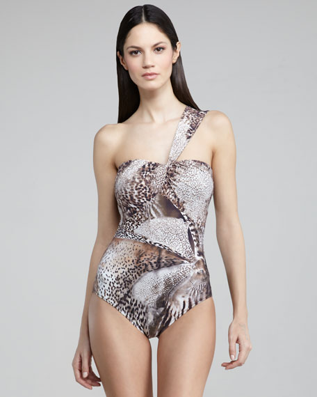 Orchidea One-Shoulder Swimsuit