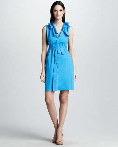Camille Ruffled-Collar Dress