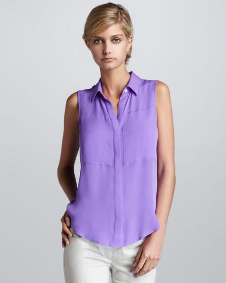 Sleeveless Blouse, Purple