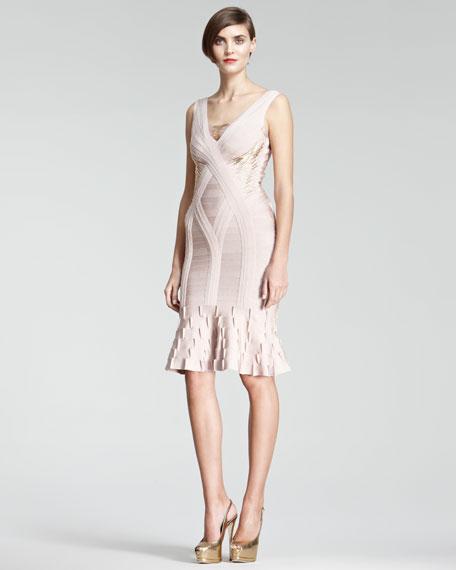 Flare-Hem Bandage Dress