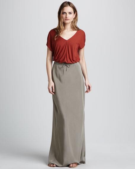 Silk Drawstring Skirt