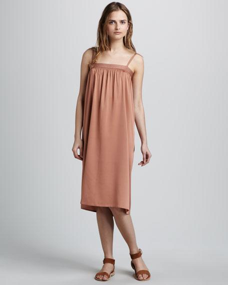 Smocked Silk Dress