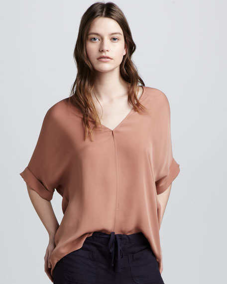 Silk V-Neck Top