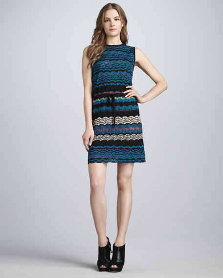 Wave-Stripe Dress