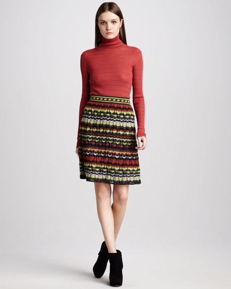 Pattern-Stripe Skirt