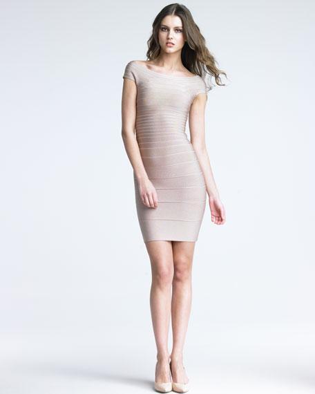 Boat-Neck Bandage Dress