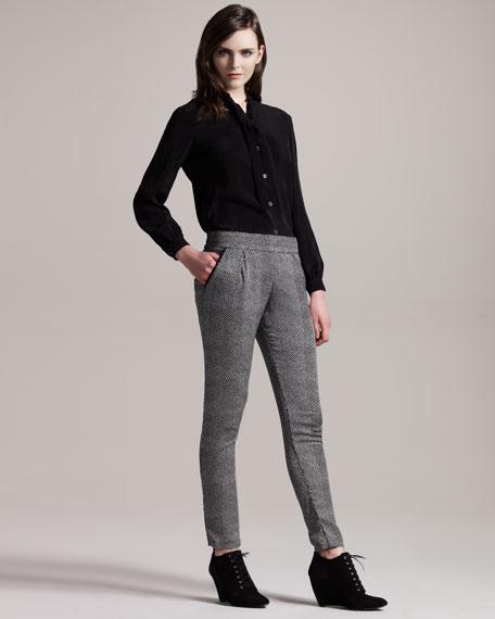 Spike Dot-Print Pants