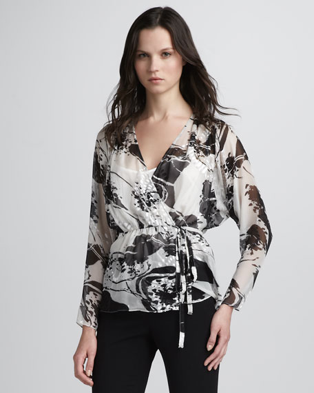 Lila Wrap Blouse
