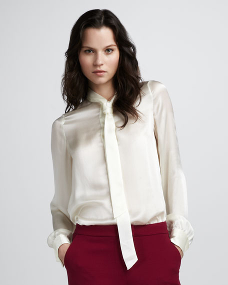 Sawyer Tie-Collar Blouse