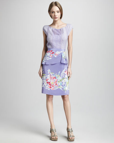 Soiree Floral-Print Skirt