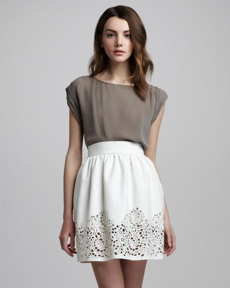 Ciara Cutout-Hem Skirt