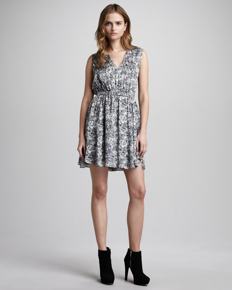 Abstract-Print Sheath Dress