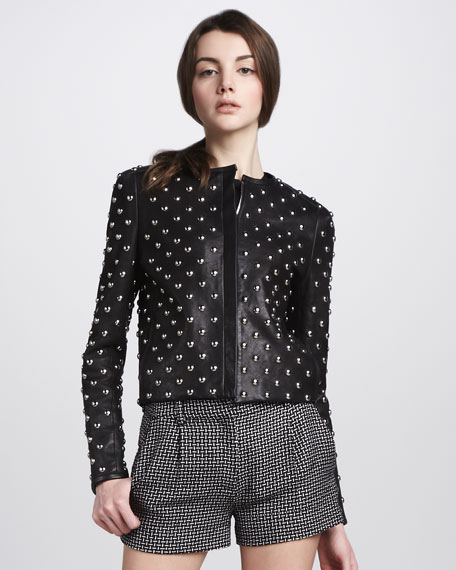 Kate Studded Leather Jacket