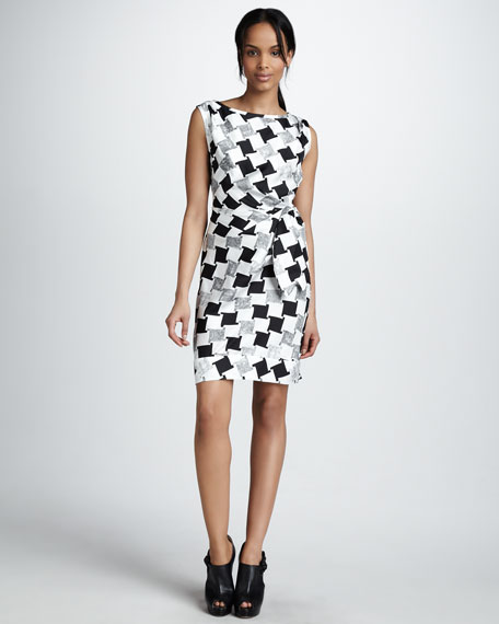Della Printed Silk Dress