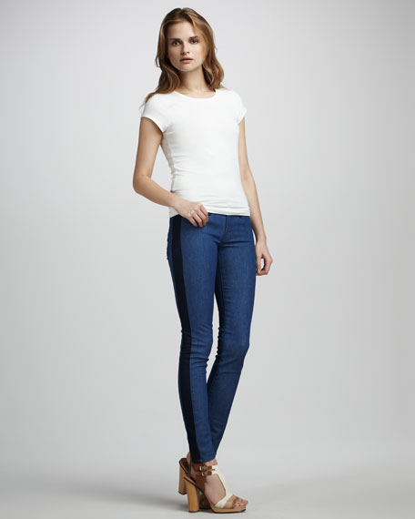 The Looker Geometric Lies Colorblock Jeans