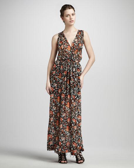 Lenli Floral-Print Maxi Dress