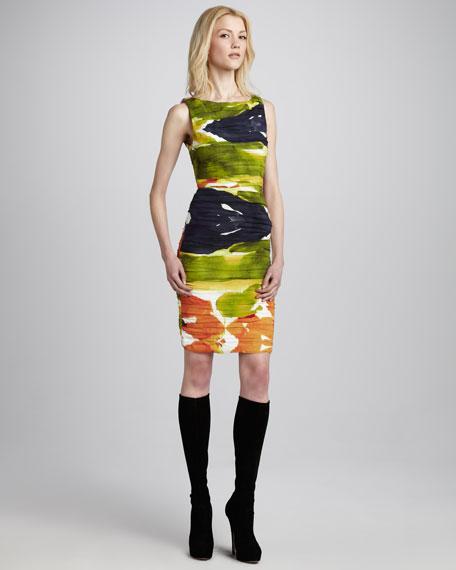 Valerie Printed Folded Dress