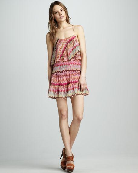 Ruffle Printed Dress
