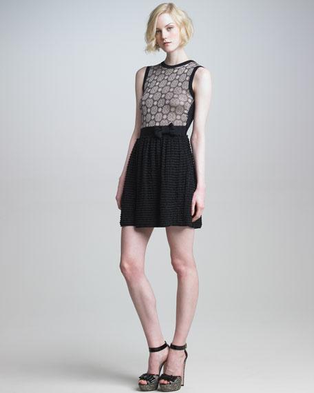 Metallic-Knit Dress