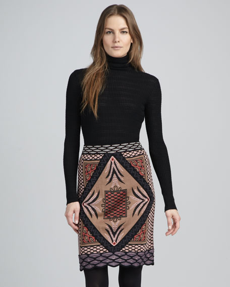 Diamond Intarsia Skirt