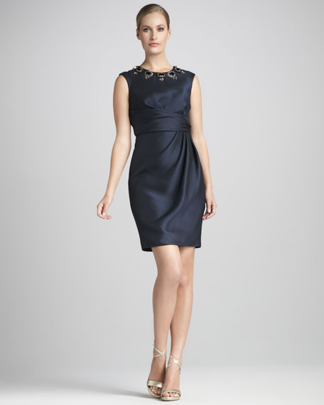 Bead-Neck Cocktail Dress