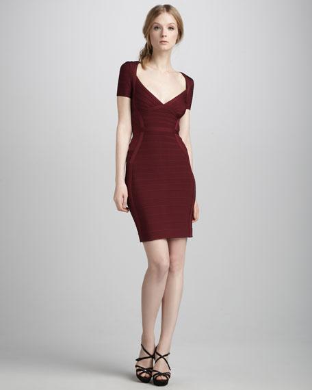 Short-Sleeve Bandage Dress