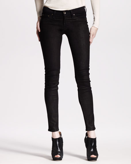 The Hyde Leather Denim Skinny