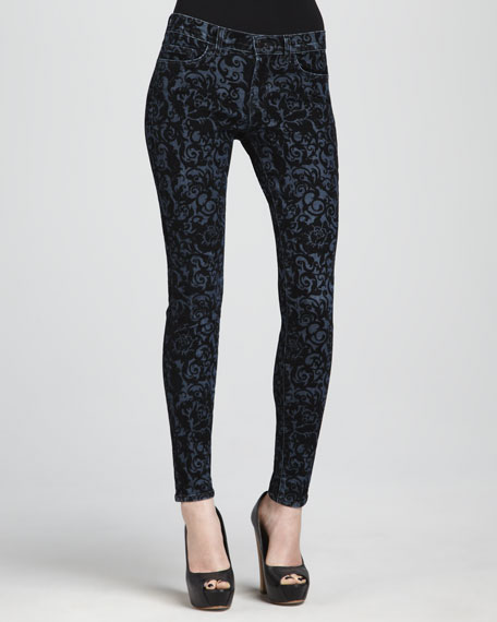 811 Brocade Skinny Jeans