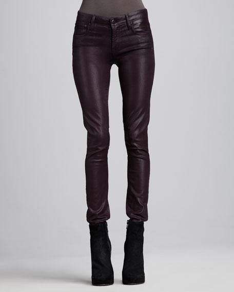 Glossy Skinny Pants